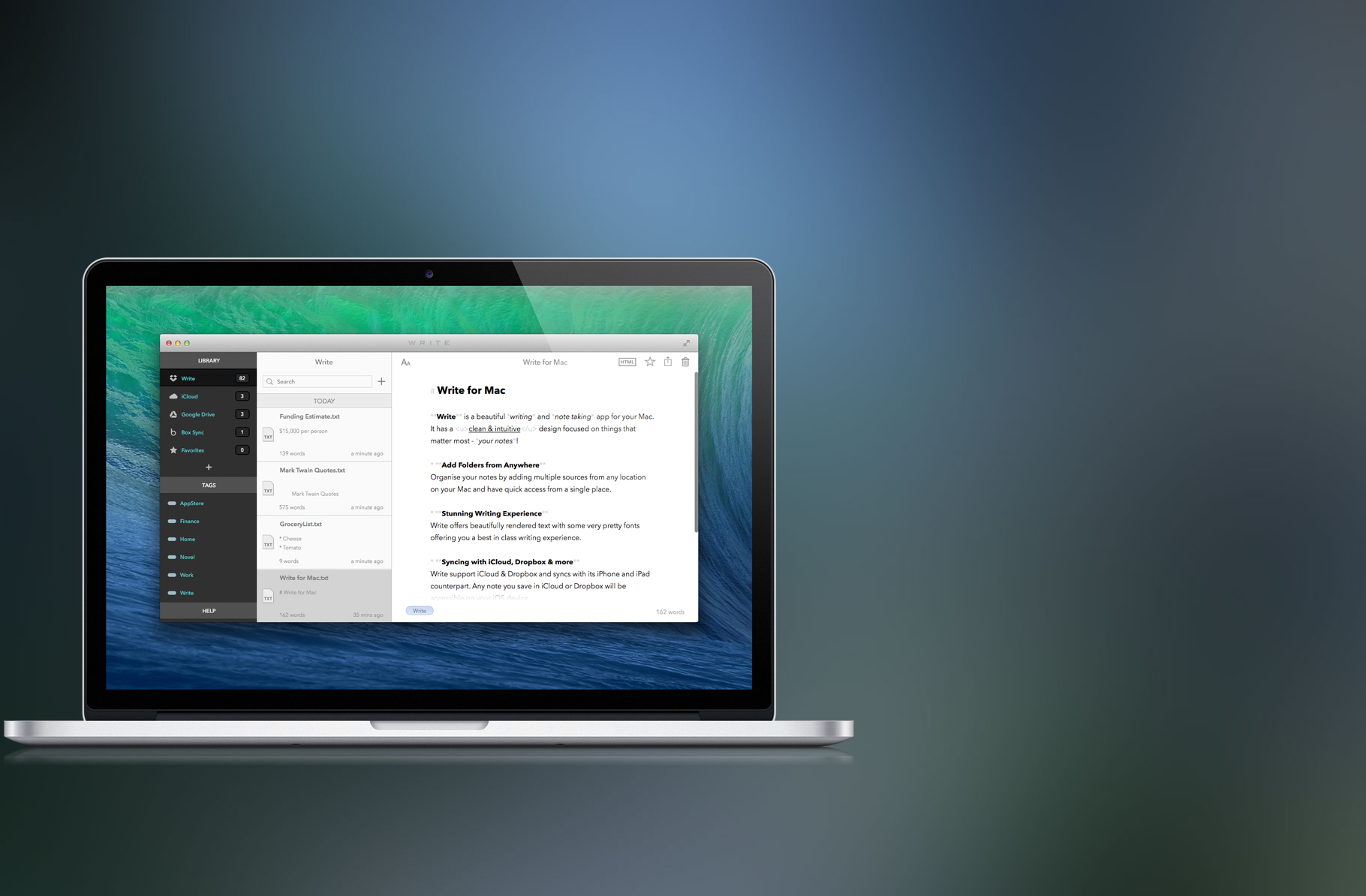 Write for Mac